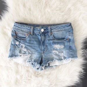 American Eagle Hi-Rise Distressed Festival Short